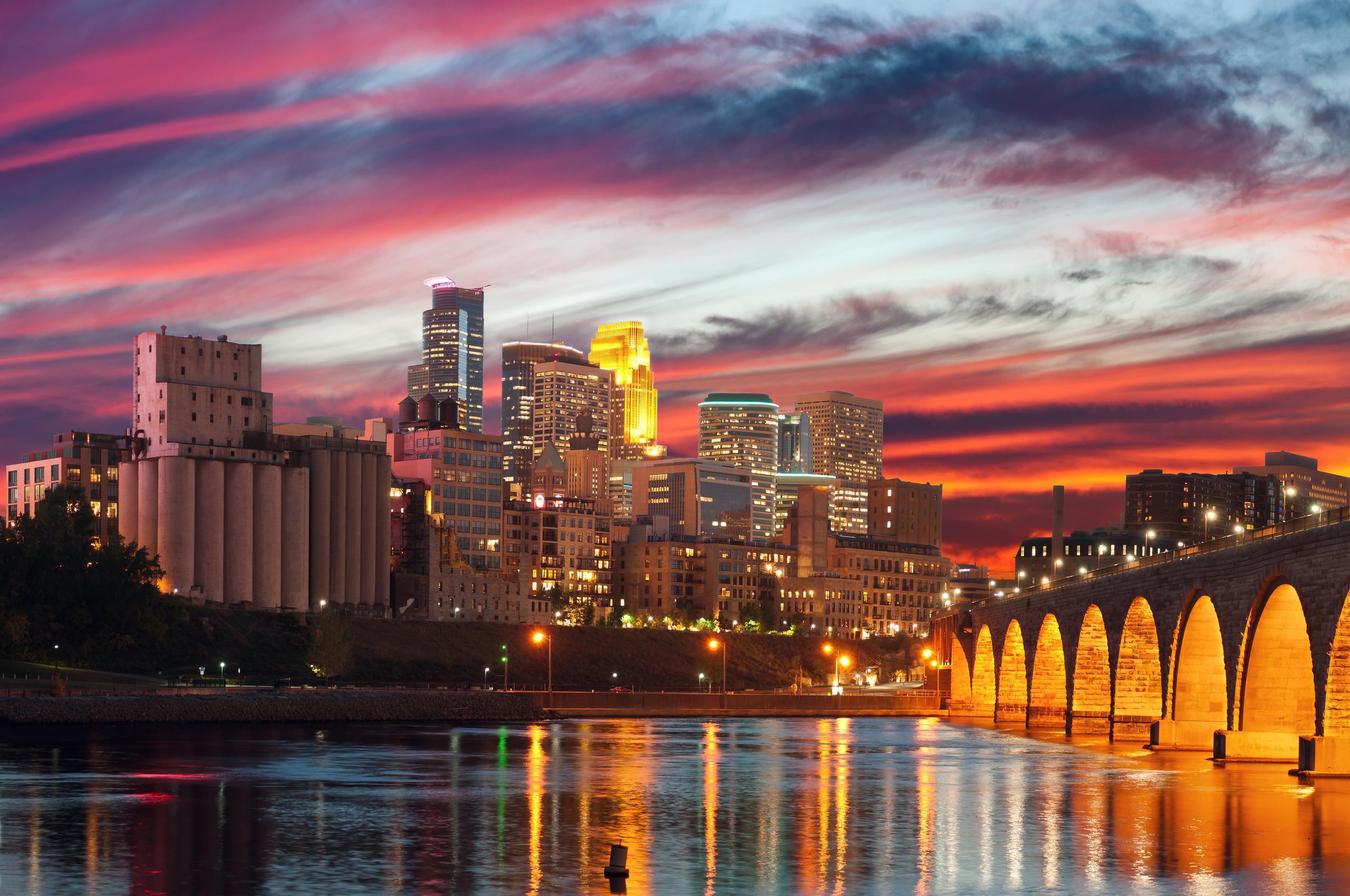 Downtown Minneapolis at Twilight